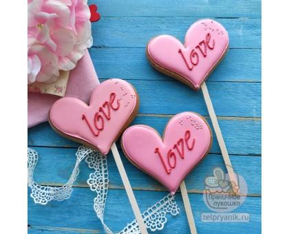 Пряник «Сердце Love»