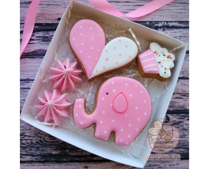 Набор пряников «Розовый слоник»