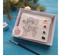 Раскраска РН02 «Снегурочка с мышкой»