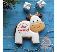 Пряник «Корова с логотипом»