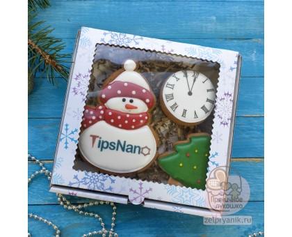 Новогодний набор «Снеговик с логотипом»