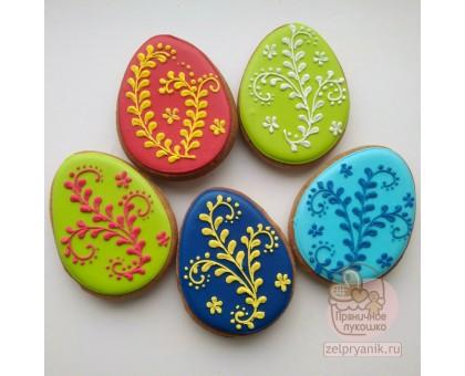 Пряник на Пасху «Яйцо с веточкой»