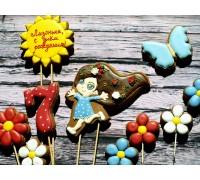 Пряничные топперы «Цветочная поляна»