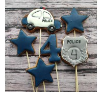 Пряничные топперы «Полиция»