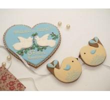 Набор «Сердце с голубями»