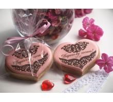 Пряник «Сердечко с печатью»