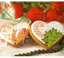 Пряник «Осеннее сердечко»